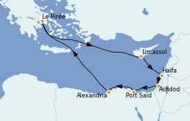 Itinerario de crucero Tierra Santa 12 días a bordo del Azamara Journey