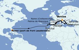 Itinerario de crucero Mediterráneo 29 días a bordo del ms Oosterdam