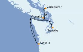 Itinerario de crucero Alaska 6 días a bordo del Celebrity Eclipse