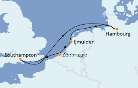Itinerario de crucero Mar Báltico 8 días a bordo del Queen Victoria