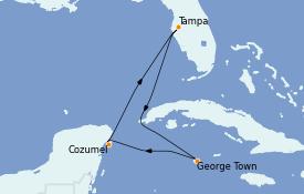 Itinerario de crucero Caribe del Oeste 6 días a bordo del Serenade of the Seas