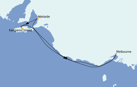 Itinerario del crucero Australia 2023 5 días a bordo del Grand Princess