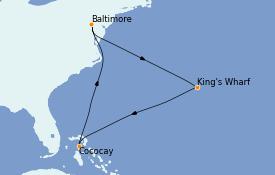 Itinerario de crucero Bahamas 9 días a bordo del Enchantment of the Seas