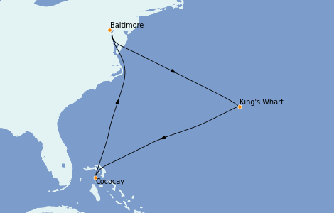 Itinerario del crucero Bahamas 8 días a bordo del Enchantment of the Seas