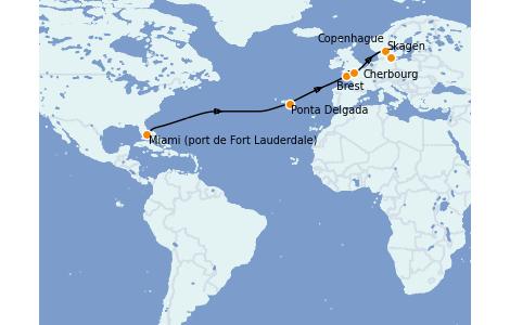 Itinerario del crucero Mar Báltico 14 días a bordo del Enchanted Princess