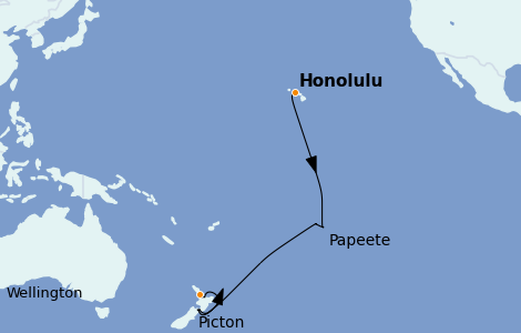 Itinerario del crucero Australia 2022 17 días a bordo del Royal Princess