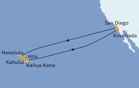 Itinerario de crucero Hawaii 15 días a bordo del Carnival Miracle