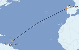 Itinerario de crucero Islas Canarias 17 días a bordo del Royal Clipper