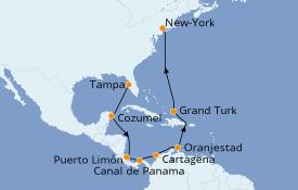 Itinerario de crucero Caribe del Este 14 días a bordo del Carnival Legend