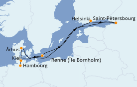 Itinerario de crucero Mar Báltico 10 días a bordo del Queen Victoria