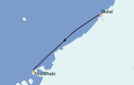 Itinerario de crucero Dubái 5 días a bordo del MSC Opera