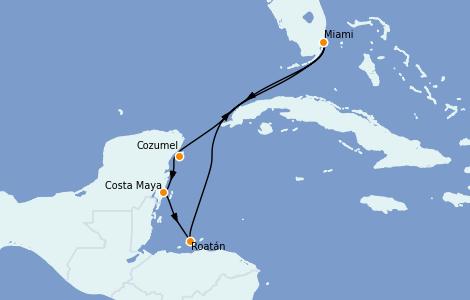 Itinerario del crucero Caribe del Oeste 7 días a bordo del Carnival Celebration