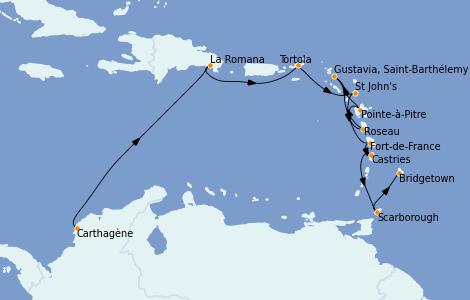 Itinerario del crucero Caribe del Este 11 días a bordo del Seven Seas Navigator