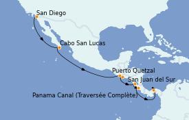 Itinerario de crucero Riviera Mexicana 12 días a bordo del Norwegian Jewel