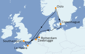 Itinerario de crucero Mar Báltico 10 días a bordo del Celebrity Silhouette
