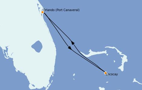 Itinerario del crucero Caribe del Este 2 días a bordo del Independence of the Seas