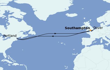 Itinerario del crucero Islas Británicas 3 días a bordo del Celebrity Silhouette