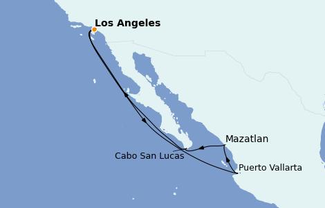 Itinerario del crucero Riviera Mexicana 7 días a bordo del Discovery Princess