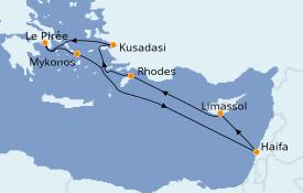 Itinerario de crucero Grecia y Adriático 8 días a bordo del MSC Lirica