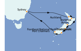 Itinerario de crucero Australia 2021 14 días a bordo del Emerald Princess
