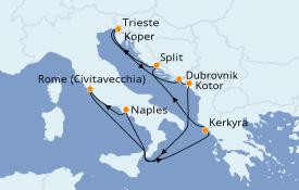 Itinerario de crucero Grecia y Adriático 11 días a bordo del Celebrity Edge