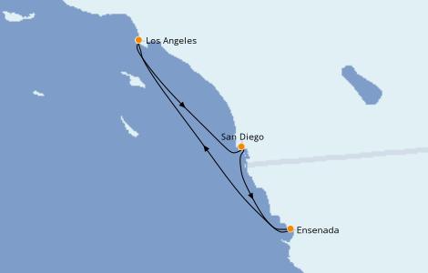 Itinerario del crucero California 4 días a bordo del Majestic Princess