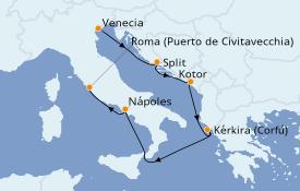 Itinerario de crucero Mediterráneo 8 días a bordo del Celebrity Infinity