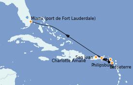 Itinerario de crucero Caribe del Este 7 días a bordo del Vision of the Seas