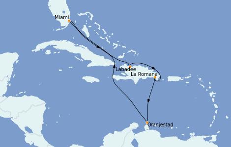Itinerario del crucero Caribe del Este 8 días a bordo del Explorer of the Seas