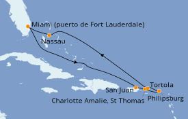 Itinerario de crucero Caribe del Este 9 días a bordo del Celebrity Equinox