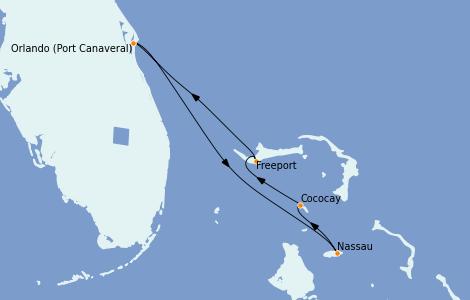 Itinerario del crucero Bahamas 4 días a bordo del Independence of the Seas