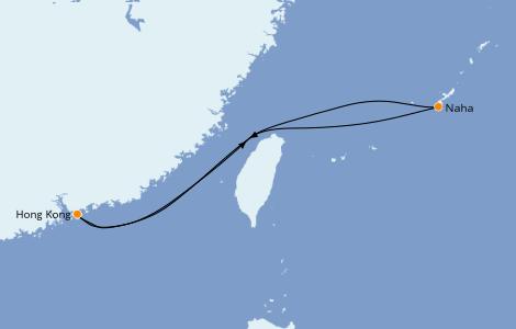 Itinerario del crucero Asia 5 días a bordo del Norwegian Sun