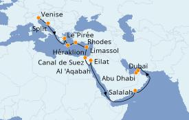 Itinerario de crucero Trasatlántico y Grande Viaje 2021 21 días a bordo del MSC Opera