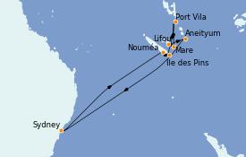 Itinerario de crucero Australia 2023 12 días a bordo del Celebrity Eclipse