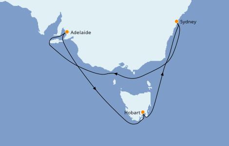 Itinerario del crucero Australia 2022 7 días a bordo del Ovation of the Seas