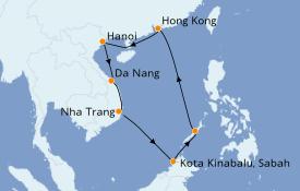 Itinerario de crucero Asia 13 días a bordo del Seven Seas Explorer