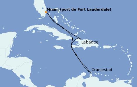 Itinerario del crucero Caribe del Este 8 días a bordo del Allure of the Seas