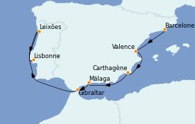 Itinerario de crucero Mediterráneo 8 días a bordo del Seabourn Sojourn