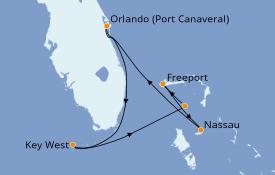 Itinerario de crucero Bahamas 6 días a bordo del Norwegian Sun