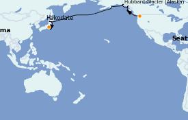 Itinerario de crucero Alaska 15 días a bordo del ms Westerdam