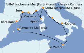Itinerario de crucero Mediterráneo 13 días a bordo del Celebrity Apex