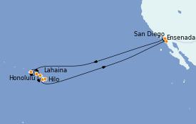 Itinerario de crucero Hawaii 18 días a bordo del ms Koningsdam