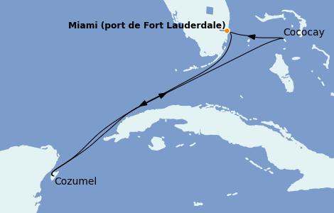 Itinerario del crucero Bahamas 5 días a bordo del Wonder of the Seas