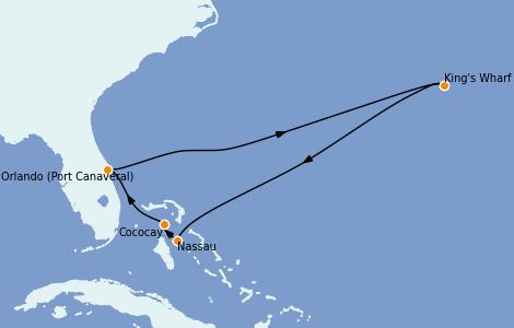 Itinerario del crucero Bahamas 8 días a bordo del Mariner of the Seas