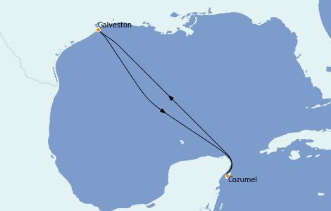 Itinerario del crucero Caribe del Oeste 4 días a bordo del Grandeur of the Seas