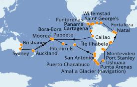 Itinerario de crucero Australia 2021 93 días a bordo del Pacific Princess