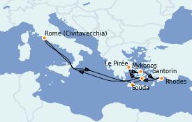 Itinerario de crucero Grecia y Adriático 10 días a bordo del Odyssey of the Seas
