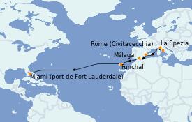 Itinerario de crucero Trasatlántico y Grande Viaje 2022 14 días a bordo del Odyssey of the Seas