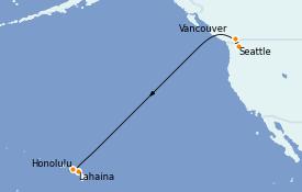 Itinerario de crucero Hawaii 10 días a bordo del Ovation of the Seas