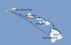 Itinerario de crucero Hawaii 8 días a bordo del Pride Of America